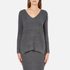 Paisie Women's V Neck Ribbed Jumper - Marl Grey: Image 1