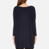 Paisie Women's Relaxed Fit Top with Chiffon Side Panel - Navy: Image 3