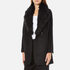 Paisie Women's Double Breasted Coat With Faux Fur Collar - Black: Image 2