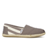TOMS Women's University Classics Slip-On Pumps - Dark Grey Stripe: Image 1