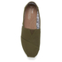 TOMS Men's Seasonal Classic Slip-On Pumps - Military Olive: Image 3
