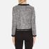 Boutique Moschino Women's Tweed Embellished Jacket - Black: Image 3