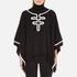 Boutique Moschino Women's Contrast Detail Cape Jumper - Black: Image 1