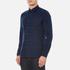Folk Men's Checked Long Sleeve Shirt - Navy Window Pane: Image 2