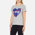 Love Moschino Women's Love Heart T-Shirt - Medium Grey: Image 2