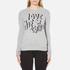 Love Moschino Women's Slogan Jumper - Grey Melange: Image 1