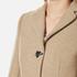 Love Moschino Women's Silver Heart Button Coat - Beige: Image 6