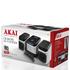Akai A60002 CD Micro Hi-Fi System - Metallic: Image 4