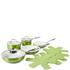 Tower Pro Metallic Pan Set - Green (9 Piece): Image 1