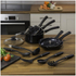 Swan Pan Set with Utensil Set - Black (5 Piece): Image 2