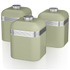 Swan Retro Canisters - Green (Set of 3): Image 1