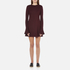 McQ Alexander McQueen Women's Volant Sleeve Dress - Port: Image 1