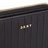 DKNY Women's Gansevoort Pinstripe Small Zip Around Purse - Black: Image 3