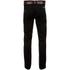 Smith & Jones Men's Ashlar Belted Slim Fit Chinos - Black Twill: Image 2