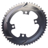 AbsoluteBLACK 110BCD 4 Bolt Spider Mount Aero Oval Chain Ring (Training): Image 2