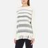 Woolrich Women's Soft Blanket Sweater - Frost White Stripe: Image 2