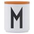 Design Letters Wooden Lid For Porcelain Cup - Orange: Image 1