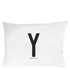 Design Letters Pillowcase - 70x50 cm - Y: Image 1