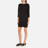 French Connection Women's Mozart Ripple Roundneck Jumper Dress - Black: Image 2