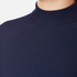 Perseverance Women's Long Sleeve Crepe T-Blouse With Frill Cuff - Navy: Image 5