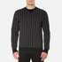 Edwin Men's Classic Crew Sweatshirt - Black Vertical Stripes: Image 1