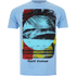 Hot Tuna Men's Surf T-Shirt - Sky Blue: Image 1