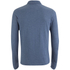 Brave Soul Men's Lincoln Long Sleeve Polo Shirt - Vintage Blue Marl: Image 2