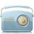 Akai A60010BLDAB DAB Retro Radio - Blue: Image 1