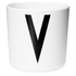 Design Letters Kids' Collection Melamin Cup - White - V: Image 1