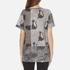 Marc Jacobs Women's Skater Patchwork Cat T-Shirt - Grey/Multi: Image 3