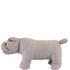 Leather British Bulldog Footstool - Grey: Image 2
