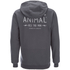 Animal Men's Shiver Zip Through Back Print Hoody - Asphalt Grey: Image 2