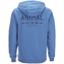 Animal Men's Shiver Zip Through Back Print Hoody - Royale Blue: Image 2