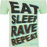 Fat Boy Slim Men's Eat Sleep Rave Repeat T-Shirt - Mint: Image 3