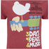 Woodstock Mens 3 Days of Peace T-Shirt - Heather Cardinal: Image 3