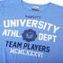Varsity Team Players Men's University Athletic T-Shirt - Blue: Image 3