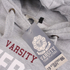 Varsity Team Players Men's University Athletic Hoody - Grey: Image 3