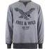 Cotton Soul Men's Free & Wild Sweatshirt - Grey Marl: Image 1