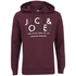 Jack & Jones Men's Core Noah Print Hoody - Port: Image 1