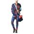 adidas Women's Stella Sport Print Training Tights - Blue/Orange: Image 7