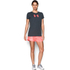 Under Armour Women's Favorite Big Logo Short Sleeve T-Shirt - Stealth Grey: Image 3