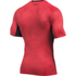 Under Armour Men's HeatGear Armour Printed Short Sleeve Compression T-Shirt - Red/Black: Image 2