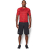 Under Armour Men's HeatGear Armour Printed Short Sleeve Compression T-Shirt - Red/Black: Image 3