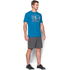 Under Armour Men's Stack Attack Short Sleeve T-Shirt - Brilliant Blue: Image 4
