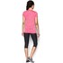 Under Armour Women's Twist Tech V Neck T-Shirt - Knock Out/Metallic Silver: Image 5