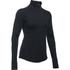 Under Armour Women's ColdGear Armour 1/2 Zip Long Sleeve Shirt - Black: Image 1