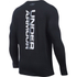 Under Armour Men's Vertical Wordmark Long Sleeve Shirt - Black/White: Image 2