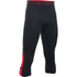 Under Armour Men's HeatGear SuperVent 3/4 Leggings - Black/Red: Image 1