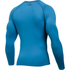 Under Armour Men's Armour HeatGear Long Sleeve Compression Top - Brilliant Blue/Stealth Grey: Image 2