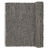 Broste Copenhagen ZigZag Leather and Cotton Rug - Chocolate: Image 1